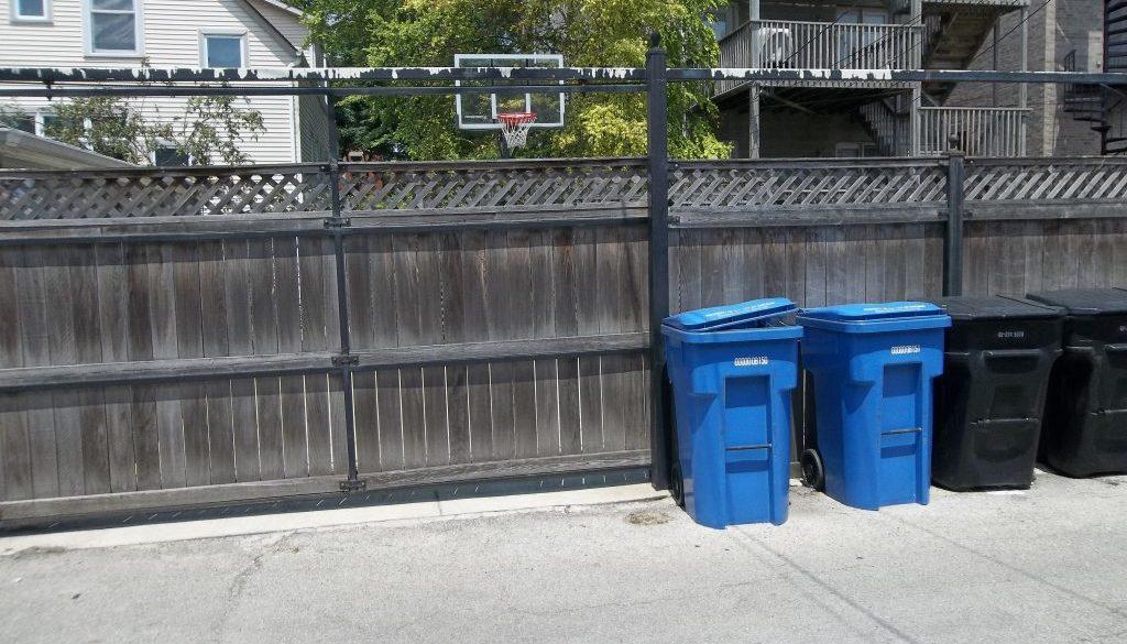 Slide gate on school street 1