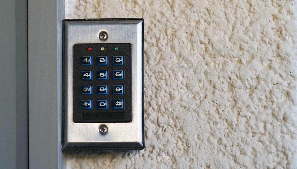 Secure Password On Keyboard For Opening Home House Door. Passwor